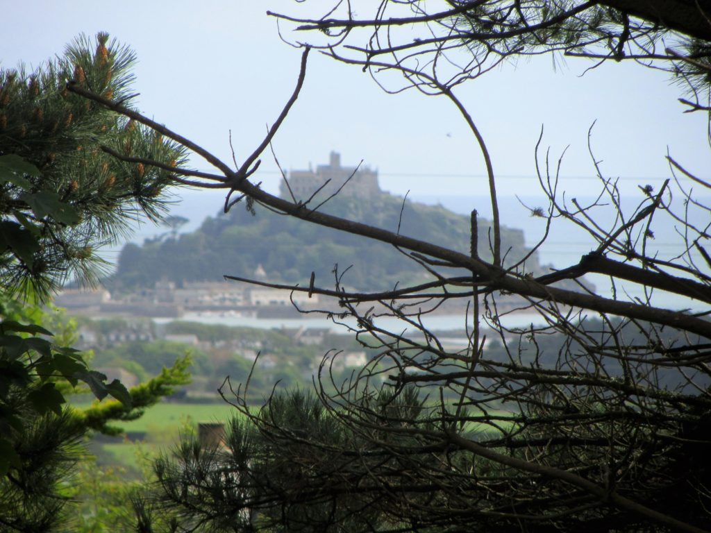 View of St Michaels through the trees